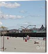 Labor Day At The Pier  Canvas Print