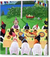 Labrador Party Canvas Print