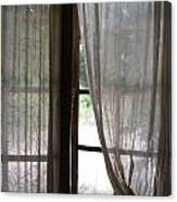 Lace Window Covering. Canvas Print