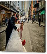 Lacey And Adam Wedding 2 Canvas Print