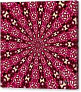 Lacy Orchid Kaleidoscope Canvas Print