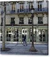 Laduree On The Champs De Elysees In Paris France  Canvas Print