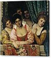 Ladies On A Balcony Canvas Print