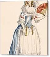 Ladies Turkish Style Evening Dress Canvas Print