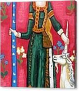 Lady And The Unicorn La Pointe Canvas Print