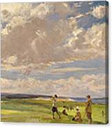 Lady Astor Playing Golf At North Berwick Canvas Print