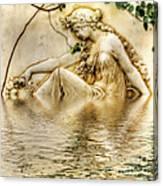 Lady Bathing 2 Canvas Print