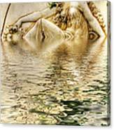 Lady Bathing Canvas Print