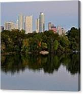 Lady Bird Lake In Austin Texas Canvas Print