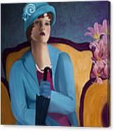 Lady Blue Canvas Print