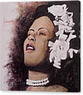 Lady Blues Canvas Print