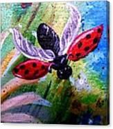 Lady Bug Landing Canvas Print
