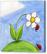 Lady Bug Love Canvas Print