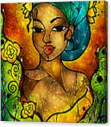 Lady Creole Canvas Print
