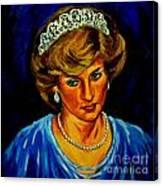 Lady Diana Portrait Canvas Print