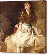 Lady Edith Amelia Ward Daughter Of The First Earl Of Dudley Canvas Print
