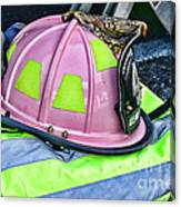 Lady Firefighter Canvas Print