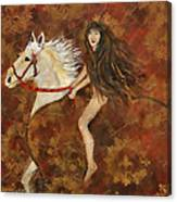 Lady Godiva Rides For Love Canvas Print