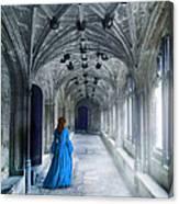 Lady In A Corridor Canvas Print