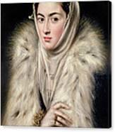 Lady In A Fur Wrap Canvas Print