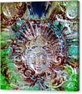 Lady In Glass Canvas Print