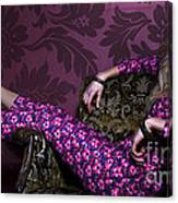 Lady In Pink... Canvas Print
