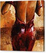 Lady In Red /24 Canvas Print