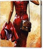 Lady In Red #25 Canvas Print