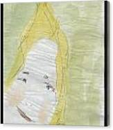 Lady In The Floor With Yellow Hair Canvas Print