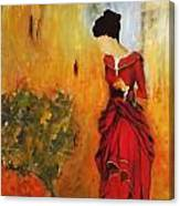 Lady In The Red Dress Canvas Print
