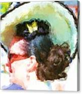 Lady In The White Hat And Trim Canvas Print