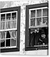 Lady In The Window II Canvas Print