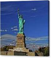 Lady Liberty In New York City Canvas Print