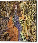 Lady Of Swirl Canvas Print