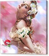 Lady Of The Camellias Canvas Print