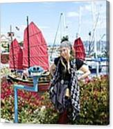 Lady Pirate And Friend Canvas Print