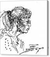 Lady Profile Canvas Print