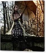Lady Rain Canvas Print