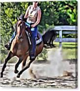 Lady Riding Canvas Print