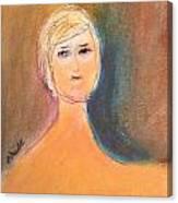 Lady Sketch Canvas Print