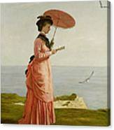 Lady Tennyson On Afton Downs Canvas Print