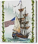 Lady Washington And Holly Canvas Print