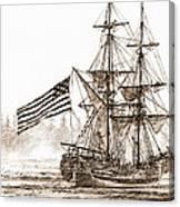 Lady Washington At Friendly Cove Sepia Canvas Print