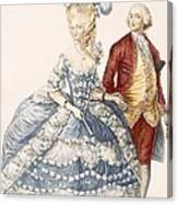 Lady With Her Husband Attending A Court Canvas Print