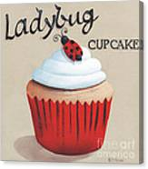 Ladybug Cupcake Canvas Print