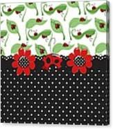 Ladybug Flower Power Canvas Print