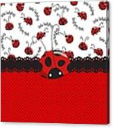 Ladybug Sweet Surprises  Canvas Print