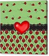Ladybugs Hearts Desires  Canvas Print