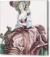 Ladys Elegant Caramel Coloured Satin Canvas Print