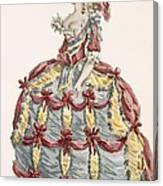 Ladys Gown For Cour A Leiquette Canvas Print
